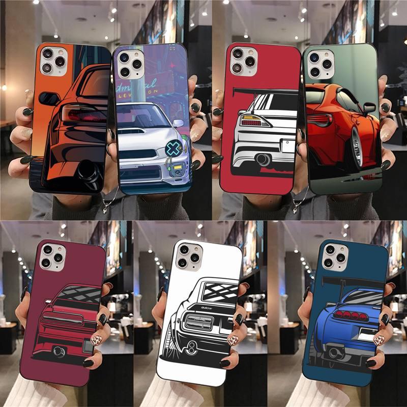 Cartoon car tail light JDM Phone Case for iphone 12 pro max mini 11 pro XS MAX 8 7 6 6S Plus X 5S SE 2020 XR case