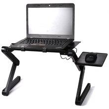 Magazzino Tabella Del Computer Portatile Pieghevole Portatile Letto Scrivania Del Computer Supporto Laptop Vassoio Scrivania Con Ventole Mouse Pad di Raffreddamento