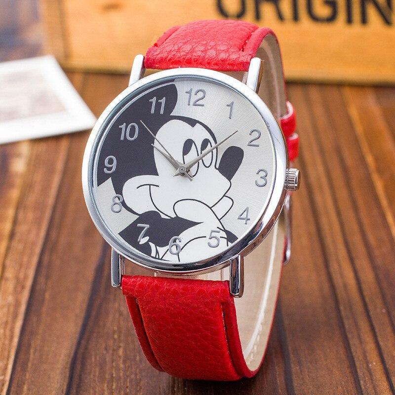 New Leather Fashion Brand Bracelet Quartz Watches Kids Chilren Boy Girl Cartoon Casual Wristwatch Clock Hour