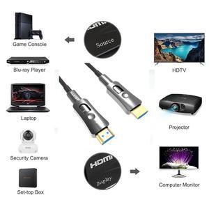 Image 4 - Резьбовой Кабель HDMI 2,0 4K, волоконно оптический кабель HDMI A к D Тип, D Тип одноголовый вытяжной для HDTV проектора телеприставка