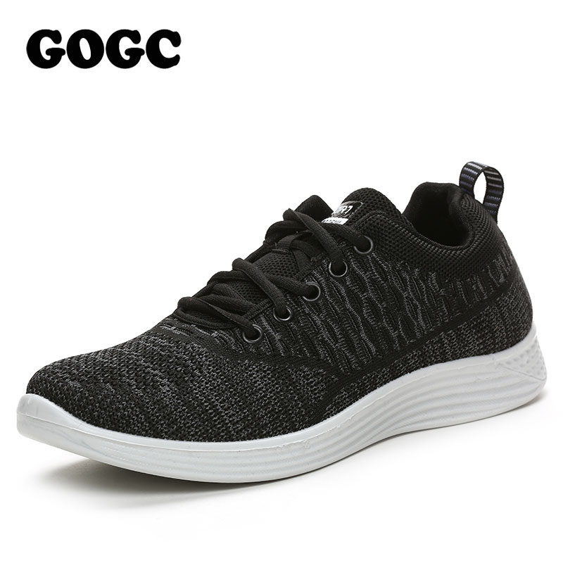 GOGC Brand Men Shoes Casual Vulcanize Shoes Black Footwear Male Shoes Running Sneakers Slip On For Man Canvas Loafers Shoes G337