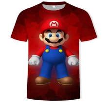 Super Mario Boys 2021 Summer Classic Super Smash Bros 3D Printed T-Shirt Large Size T-Shirt Small Size Kids T-Shirt