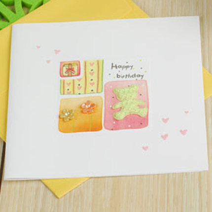 cute flower cards mini handmade birthday cards kids sqaure greeting cards birthday favor