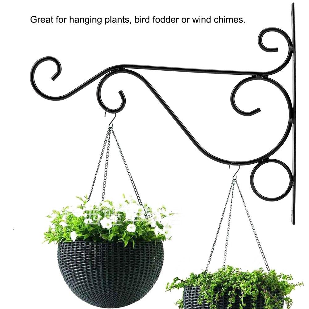 Iron Plant Hanger Wall Hanging Bracket Flower Hook for font b Home b font font b