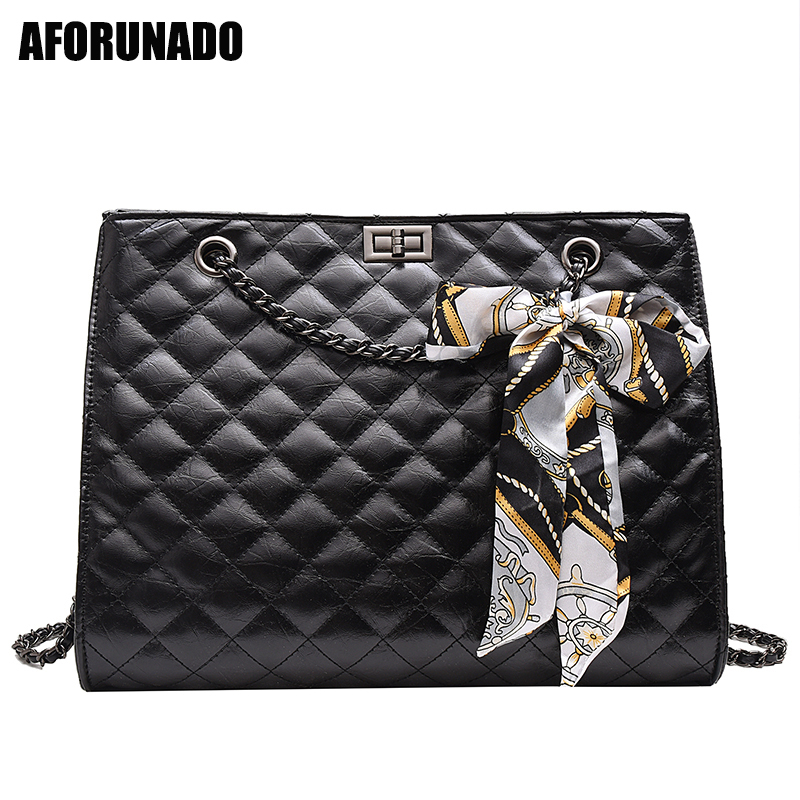 Luxury Handbags Women Bags Designer Bow Leather Shoulder Bags Women Channels Handbags Metal Lock Crossbody Bags For Women 2019