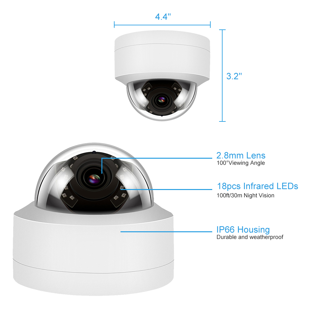 de vídeo dome de segurança áudio visão