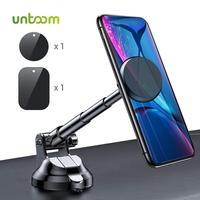 Untoom-soporte magnético de teléfono para coche, montaje de teléfono Universal para parabrisas y tablero, para iPhone y Samsung