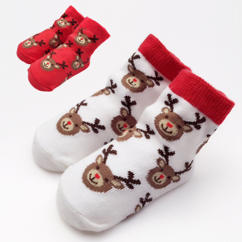 2019 New Children Socks Toddler Girls Boys Socks Baby Floor Socks Christmas Deer Spring Autumn New Born Baby Socks Meia Infantil