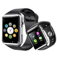 WristWatch A1 Bluetooth Smart Watch men women Sport Pedometer Sleep Monitor Support SIM Camera For iPhone IOS Android Smartwatch цена