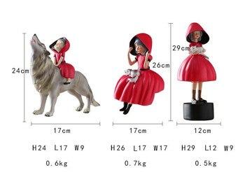 Επιτραπέζιες φιγούρες κοκκινοσκουφίτσα και κακός λύκος