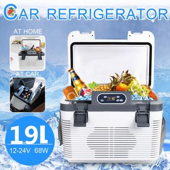 19L Mini lodówka samochodowa DC12-24V AC220V zamrażarka ogrzewanie lodówka Icebox schowek na samochód domu jedzenie na piknik Cooler cieplej tanie i dobre opinie SOMA TE NONE CN (pochodzenie) 16L i = = 20L 24 v
