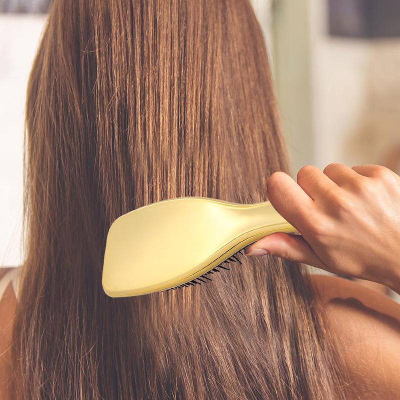 Электропластина Антистатическая щетка для волос ABS TPE Гальваническая выпадение волос дизайн Массажная расческа душ влажная Расчёска, облегчающая Расчесывание Волос