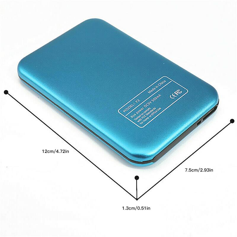 HDD 2.5 inch Portable External Hard Drive 2TB/1TB/500GB HD Externo Mobile Hard Disk Drives USB 3.0 Storage For Desktop Laptop 6