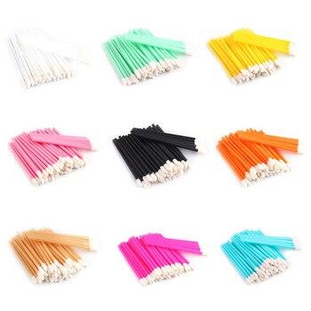 NEWCOME 50 sztuk/partia jednorazowe Lip Brush przedłużanie rzęs Micro Brush indywidualne różdżki aplikatory Mascara makijaż narzędzia