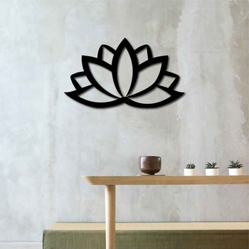 Metal Wall Art Lotus Interior Decoration Home Decor Wall Hanging Home Decoration Wall Art 50x29 cm