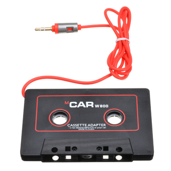 110cm Universal Audio Tape Adapter 3.5mm Jack Plug Black Car Stereo Audio Cassette Adapter For IPod Phone MP3 CD Player