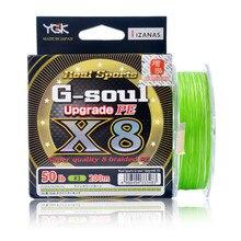 Fishingline japonês original ygk X-BRAID G-SOUL x8 trançado pe linha de isca 150m 200m