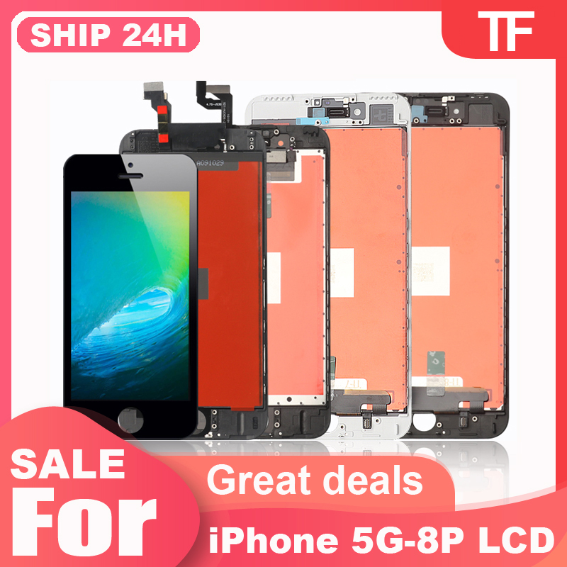 Grade AAAA++++ for iPhone 6 6S 7P 8P LCD with Perfect 3D Touch Screen Digitizer Assembly for iPhone 5S Screen Factory Wholesale|Mobile Phone LCD Screens|   - AliExpress