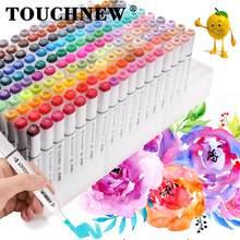 Touchnew 30/40/60/80/168 marcadores de cor mangá desenho marcadores caneta álcool baseado esboço oleosa dupla escova canetas