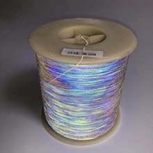 0,5 мм * 4000 метров, светоотражающая шелковая цветная Светоотражающая вязаная нить для одежды «сделай сам»
