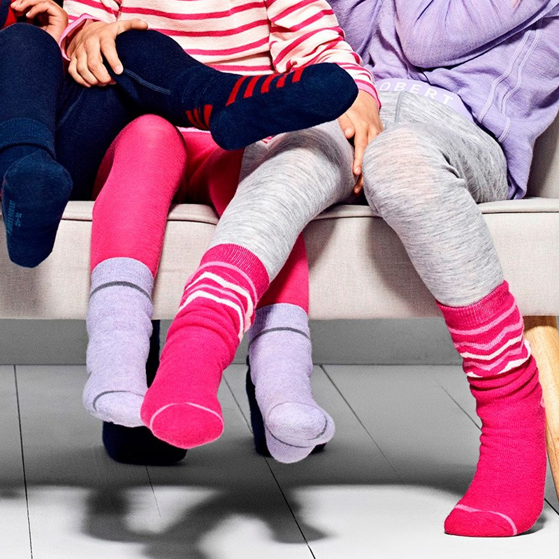 Merino Wool Thermal Kids Socks Baby Girl Boy Sockes Thick In The Winter