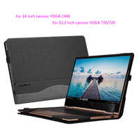"Laptop Cases For Lenovo YOGA C940 14 Inch YOGA C930 7 Pro Split Portable PU Leather Protective Cover For YOGA 730 720 13.3"" Gift"
