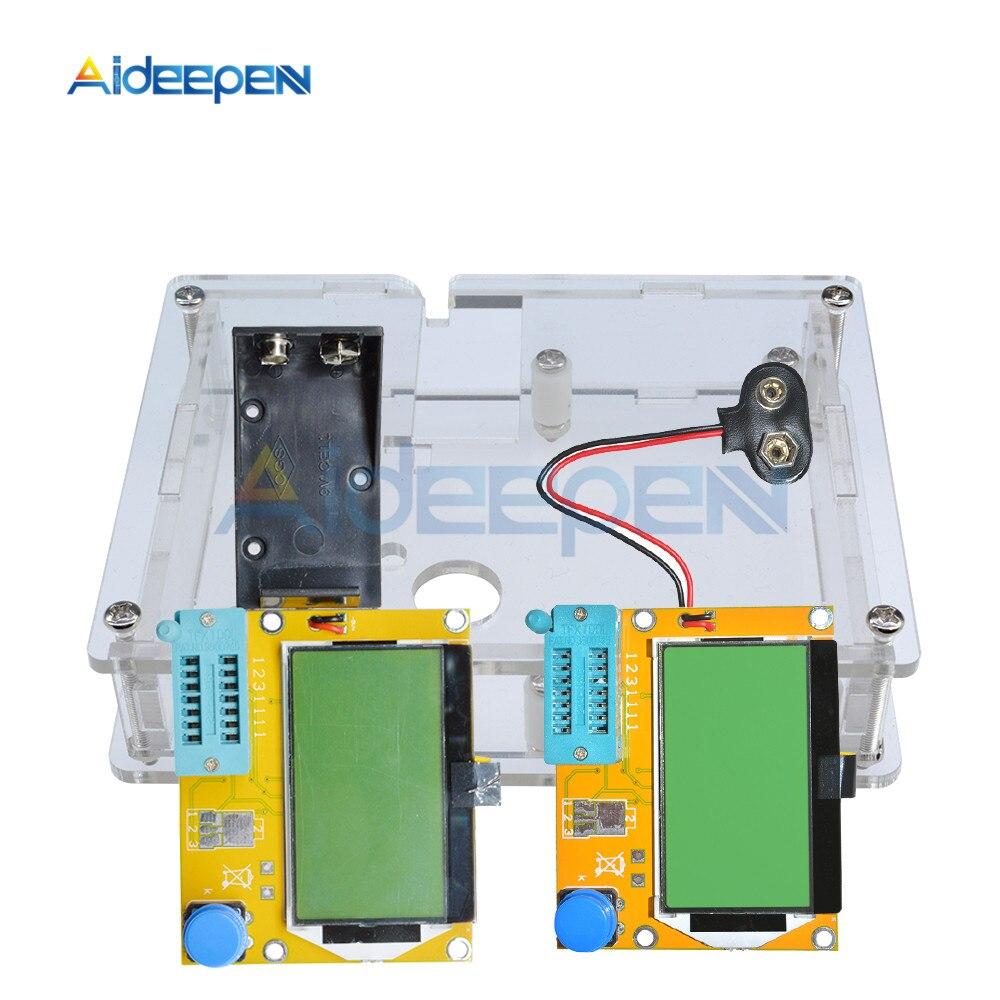 LCR-T4 Mega328 M328 Multimeter Transistor Tester ESR Meter Diode Triode Capacitance Tester MOS PNP NPN LCR With Acrylic Case