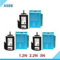 3 Axis Gesloten Lus Motor Kit: nema 23 Stappenmotor Gesloten Lus Systeem + Servo Drive HBS57H Met 3M Kabel Cnc Deel