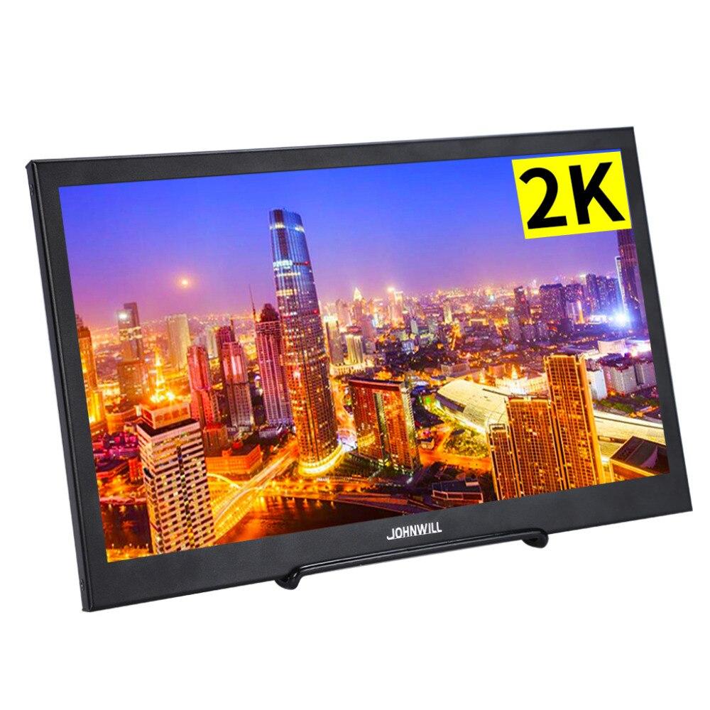 10.1 pouces LCD HD moniteur Mini TV écran d'ordinateur Portable 2K IPS écran pour PS4 XBOX commutateur avec DC USB 2 Mini Interface HDMI
