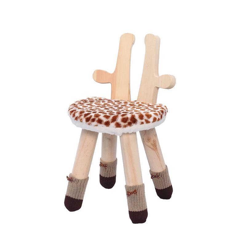 Children's Bench Solid Wood Back Chair Creative Cartoon Animal Anti-skid Small Bench Kindergarten Dining Stool Baobao Bench