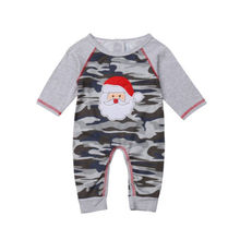 Christmas Newborn Baby Boys Girls Camo Romper Pants Playsuit Outfits Clothes Santa Christmas Xmas Baby Girl Boy Clothes new 3pcs newborn baby boys girls christmas clothes crawl walk hunt romper deer pants hats caps xmas elk outfits toddler baby set