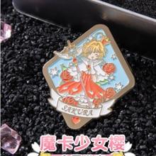 Cardcaptor Sakura-placa de metal de dibujos animados, broche estilo bolso, botón, regalo, colección limitada, decoración de ropa, regalos de disfraz