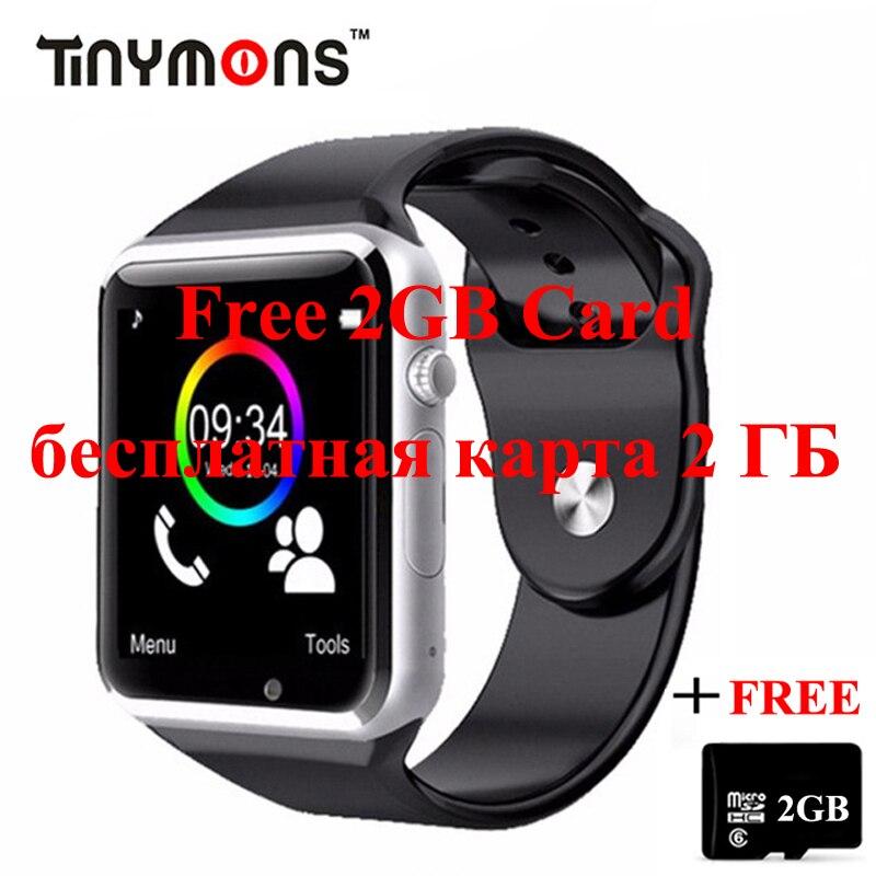 A1 relógio de pulso bluetooth telefone inteligente relógio de fitness pedômetro sim câmera smartwatch para apple android facebook whatsapp crianças criança