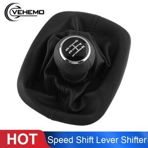 Image 1 - Vehemo 5 Velocità Del Cambio In Pelle Auto Pomello Leva del Cambio Gaitor Boot Bastone Penne Della Polvere di Copertura Per Volkswagen PASSAT B5 car Styling