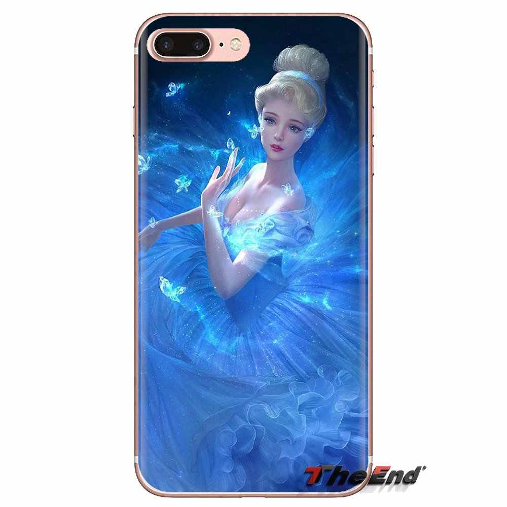 Voor Oneplus 3T 5T 6T Nokia 2 3 5 6 8 9 230 3310 2.1 3.1 5.1 7 Plus 2017 2018 Siliconen Telefoon Case Cinderella Glass Slipper Kasteel