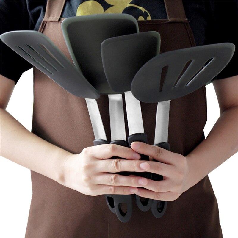 3 pces/4 pces conjunto de ferramentas de panelas silicone creme cozimento raspador não vara manteiga espátula náilon spreader resistente ao calor ferramentas de cozinha