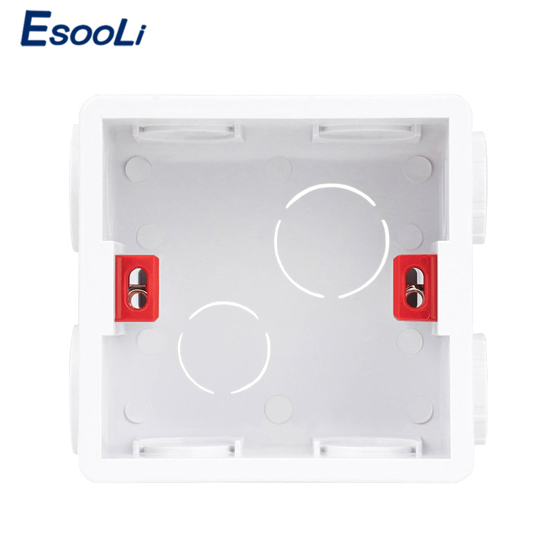 EsooLi Adjustable Mounting Box Light Touch Switch Internal Cassette 86mm*85mm*50mm For 86 Type Touch Switch And Socket