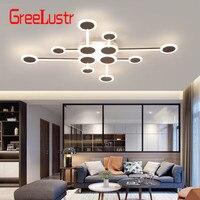 Nordic lâmpada led luzes de teto novo design marrom lâmpada led para sala estar quarto conduziu a lâmpada do teto decoração casa luminária|Luzes de teto| |  -
