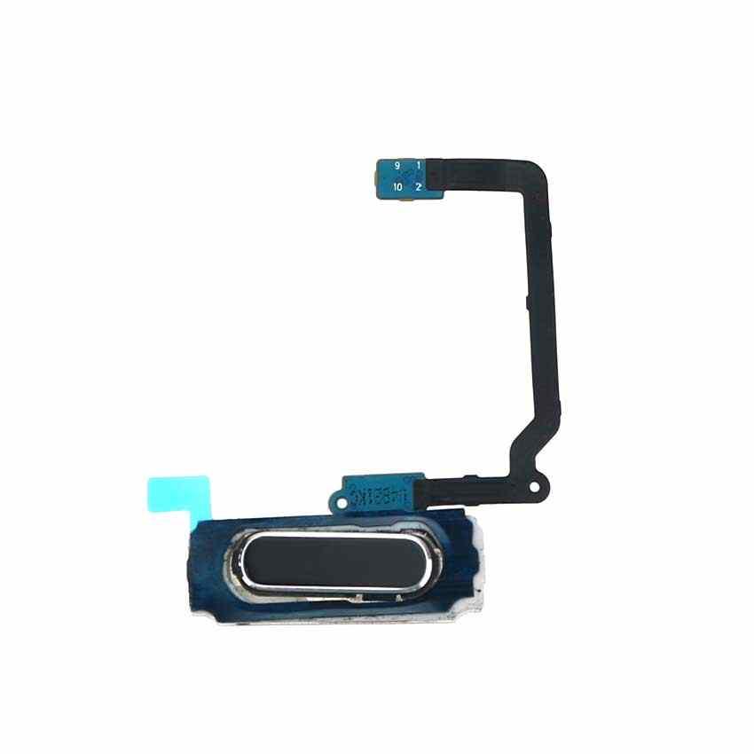 Yuxi Sensor Sidik Jari untuk Samsung Galaxy S5 I9600 G900i G900F G900A G900H G900T Rumah Kembali Kunci Menu Tombol FLEX Kabel pita