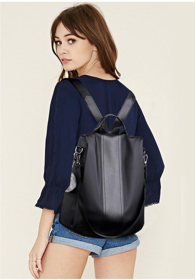H7fbe03cc21ca43bebd43b7f4b0502df2Z 2019 Women Leather Anti-theft Backpacks High Quality Vintage Female Shoulder Bag Sac A Dos School Bags for Girls Bagpack Ladies
