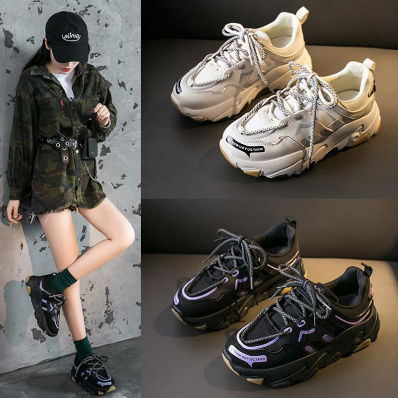 New shoes women's ins reflective 2020 spring dad super fire single mesh  women's Korean versatile high rise women's shoes - buy at the price of  $23.22 in aliexpress.com   imall.com