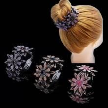 Стразы резинка для волос когти держатели красочные бутон волосы