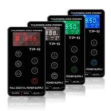 קעקוע אספקת חשמל Tatuagem לקעקוע מכונות מגע מסך מקור TP 5 דיגיטלי LCD כפול איפור קעקוע ספקי כוח