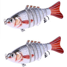 1 pçs articulado multi seções isca de pesca 10cm 15.5g wobbler crankbait artificial duro swimbait corrico pesca da carpa enfrentar