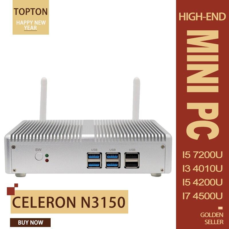 Mini PC Windows 10 Intel N3150 Processor, 4GB DDR3 /64GB SSD, Supports WiFi Dual/Gigabit Ethernet/HDMI/VGA/Dual Displays HTPC