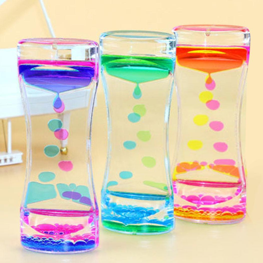 Oil Calming Floating Color Mix Illusion Timer Liquid Motion Visual Square Desk Toy ASD Dual Office, Home, School