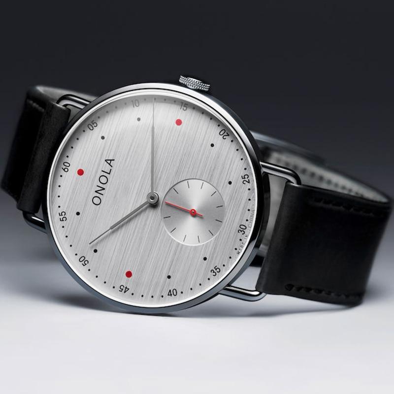 Fashion brand ONOLA simple casual leather men's watches business waterproof nylon strap quartz wrist watch men Relogio Masculino