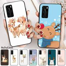 Hrmes Art Cartoon Herten Paar Diy Telefoon Case Cover Shell Voor Huawei P20 P30 P20Pro P20Lite P30Lite Psmart P10 P40(China)