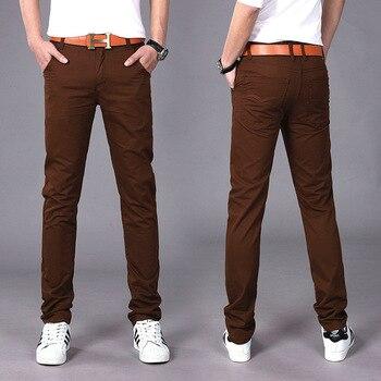 New Design Casual Men Pants Cotton Slim Pant Straight Trousers Fashion Business Solid Pants Men Pantalon Pantalones Hombre Homme
