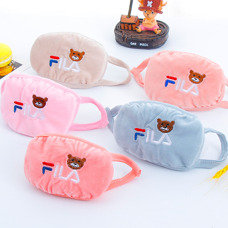 Kawaii Cotton Dustproof Mouth Face Mask Anime Cartoon Outdoor Travel Women Men Muffle Face Mouth Masks